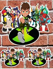 """BEN 10 ALIENS - 7"""" and 3"""" DECAL STICKERS for HOME, SCHOOL, AUTO, LAPTOP, SKATE"""