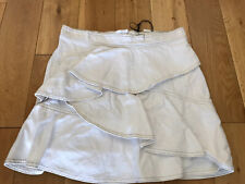 Isabel Marant Etoile Coati Denim Mini Ruffle Skirt. BNWT. Size FR44. Sold Out!!!