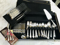 1847 Rogers Bros IS Reflection 100 Pc Mixed Flatware Silverware Set In Zip Chest
