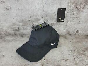 Nike Aerobill Featherlight Breathable Comfort adjustable black hat 746653 010