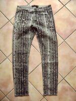 @ Karl Lagerfeld @ Jeans schwarz-beige Muster Modell Carlos W30 L30