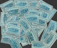Postage Stamps For Crafting: 1952 3c B & O Railroad; Blue; 50 Copies