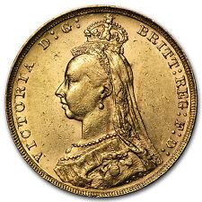 1887-1892 Great Britain Gold Sovereign Victoria Jubilee Avg Circ - SKU #69811