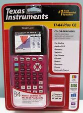 TEXAS INSTRUMENTS TI-84 PLUS CE PLUM GRAPHING CALCULATOR , NEW IN BOX