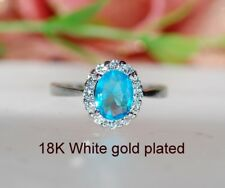 2ct @look oval Topaz claster ring uk size i ; us 4.5