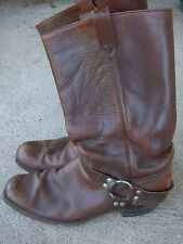 Vintage Dan Dino Tall Square Toe Motorcycle Riding Boots size: 12