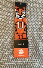 Stance Clemson Tigers Socks Pair Mascot Orange Football Basketball L LARGE 9-12
