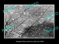 OLD LARGE HISTORIC PHOTO SHANGHAI CHINA AERIAL VIEW OF THE CITY c1940 2