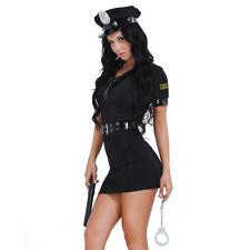 Polizeikostüm für Damen - Polizistin Kostüm - Erwachsenenkostüm Sexy - Schwarz