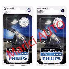 Philips 30mm LED 6000k Xenon Bright WHITE DE3175 Light bulb DOME Super Interior
