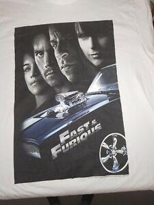 OG FAST & FURIOUS MOVIE POSTER  T-Shirt UNISEX Size XL VIN DIESEL PAUL WALKER
