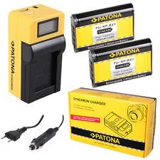 2x Batteria Patona + caricabatteria Synchron LCD USB per Sony FDR-X3000,HDR-AS10