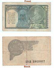 Extreme Rare 1940 J.W.Kelly One Rupee Note British india George V note G5-52