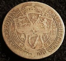 1900 Queen Victoria Jubilee Head .925 VF Silver Florin Coin