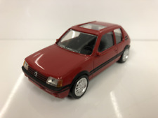 Peugeot 205 GTI 1986 red Youngtimers Norev Jet Car 1 43