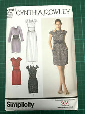 Fitted Waist Dress Sewing Pattern 6-14/32-40 Simplicity K2281 NEW UNCUT C Rowley