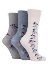 Ladies Gentle Grip Non Elastic Socks Soft Cotton Honeycomb Top Size 4-8 Solrh100g3 - 3 Pairs