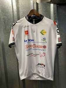 Ekoi Sporty Trader White Cycling Top Jersey Size X Large