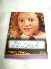 Star Trek Autograph Card Movies Generations Olivia Hack as Olivia Picard A108