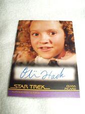 Star Trek Autograph Card Movies Generations Olivia Hack as Olivia Picard A108
