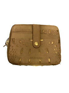 BRAHMIN Zip around Travel Card Case Wallet Gold Wilmington New with tag