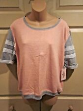WOMENS SHIRT MEDIUM Juicy Couture Sparkle into the Tropics Short Sleeve Top $44