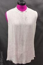 Raquel Allegra Silk & Jersey Rainwash Muscle Tee Sleeveless Top NWOT