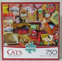 Buffalo Games 750 Piece Puzzle Cats SWEET SHOP KITTENS cat candy scale playing
