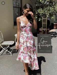 Keepsake Oblivion Floral Midi Dress Sz Medium