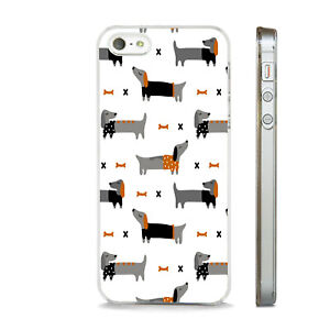 SAUSAGE DOG PATTERN DACHSHUNDS  NEW PHONE CASE COVER FIT All APPLE IPHONE MODELS