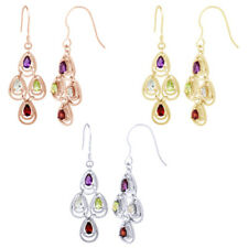 1 3/4 ct Multi-Stone 18K Yellow Gold Over Chandelier Earrings $191.92