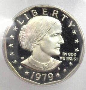 1979-S SUSAN B. ANTHONY DOLLAR ICG PR70 DCAM TYPE 2 LISTS FOR $175