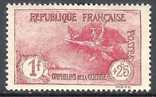 France 1926 War Orphans carmine 1f + 25c mint SG452