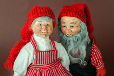 Scandinavian Christmas Mr and Mrs Claus Norwegian Design Julenisser Elves Gnomes