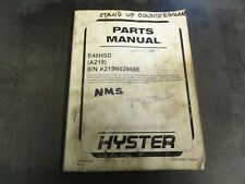 Hyster E40HSD Forklift Parts Manual