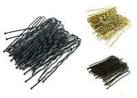 36 Waved Hair Pins Black Blonde Brown Bun Pins Hair Slides Kirby Grips 4.5cm