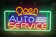 """New Open Auto Service artwork Real glass Neon Sign 32""""x24"""" Beer Lamp Light"""