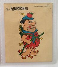 Fred William Tell The Flintstones Authentic 1967 Very Rare Sticker Card (B80)
