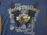 Harley Davidson Winged Bar and Shield Blue Shirt NWT Women's Large