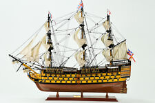 "HMS Victory Lord Nelson's Flagship Wood Tall Ship Model 34"" Built Boat New"