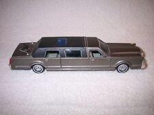 """New listing 9 1/4"""" Long Metal Majorette Limousine 1/32 Scale Black Car Model Ref 3045"""