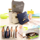 Retro Coin Bag Case Key Card Clutch Zipper Canvas Pouch Handbag Purse Wallet PS