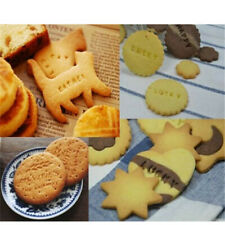 Alphabet Number Letter Cookies Biscuits Stamp Embosser Cutters Cake Fondant DIY
