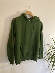 CHAMPION Ladies Green Hooded Jumper SIZE L Large VGC