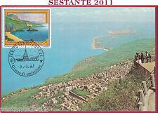 ITALIA MAXIMUM MAXI CARD ROMA 636 PALMI RC 1987 ANNULLO TORINO B377