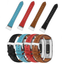 Luxury Genuine Leather Strap Band For Fitbit Charge 3 Replace Wrist Watchband