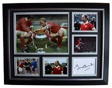 Bobby Charlton Signed Autograph 16x12 framed photo display Manchester United COA