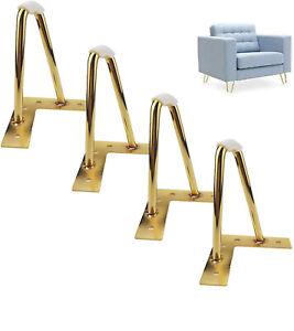 Hairpin Table Legs Hair Pin Legs Set of 4 Furniture Bench Desk Metal Steel leg