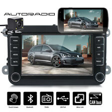7 in Car Stereo Audio MP5 Player Bluetooth 2 DIN For VW GOLF 5 V PASSAT + Camera