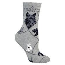 Scottish Terrier Dog Breed Gray Lightweight Stretch Cotton Adult Socks